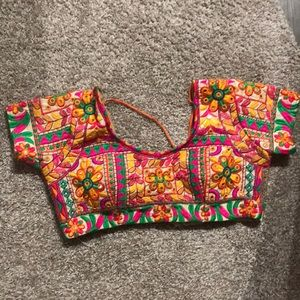Tops - Multi color saree blouse